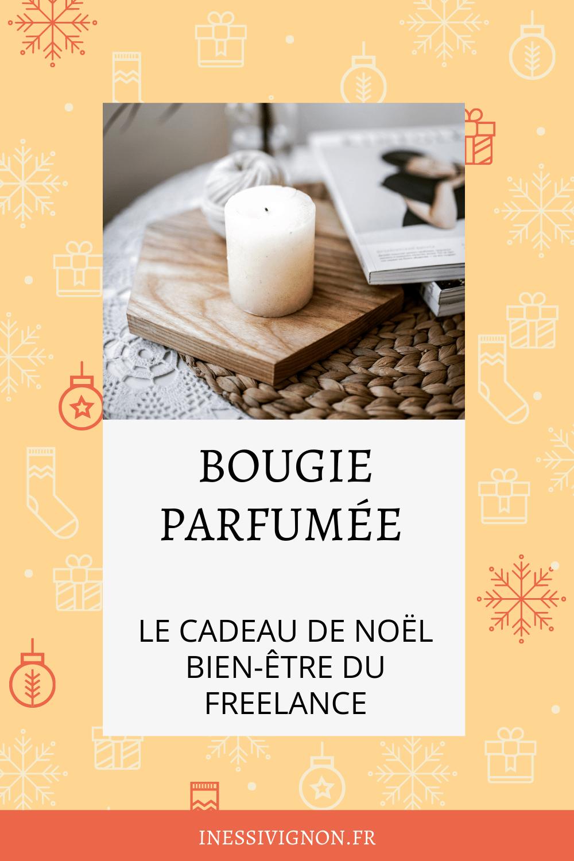 Cadeaux de Noël du freelance bougie parfumée