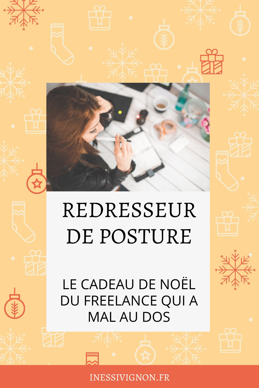 Cadeaux de Noël du freelance redresseur de posture